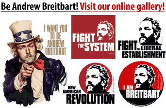 Andrew Breitbart shirts, mugs, posters
