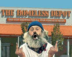 flip off homeless depot politically correct satire