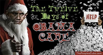 12 Days of Christmas ObamaCare cartoon