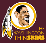 Obama - New Washington Redskins logo cartoon