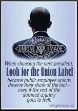 Union Label, Union Made Obama cartoon