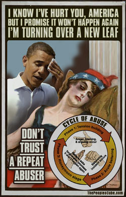 Obama repeat abuser satirical cartoon